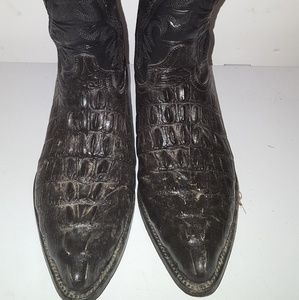 Bonanza Men's Black Exotic Western Leather Boots